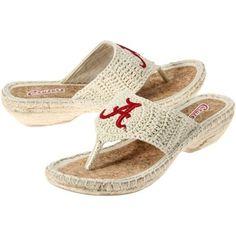 Alabama Crimson Tide Ladies Pre-Game Flip Flops