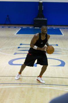 Champions know the offseason is the time for improvement. Dwyane Wade doing Gatorade Sports Science Institute testing at IMG Academy. #NBA #MiamiHeat #Basketball