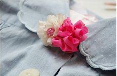 DIY Crafts : DIY make handmade brooches-fabric flower brooch