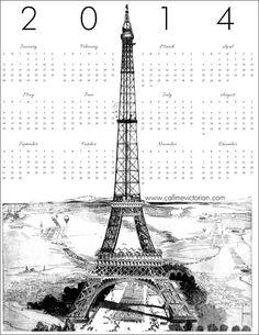 2014 calendar paris
