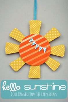 Hello Sunshine Door Hanger!  {how cute and cheerful!}