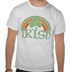 Irish Rainbow T-shirts #stpatricksday #stpattys #stpattysday #zazzle #green  #irish #rainbow #irishrainbow #shamrock #lucky #sweepstakes