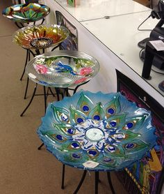 Stained Glass Express has bird baths in for the 2013 season. Great selection of bird baths for the garden!