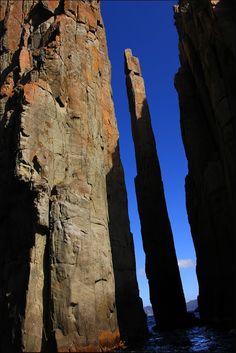 Slightly diagonal vertical, Tasmania, Australia