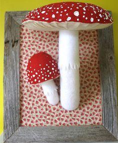 handmade mushrooms #woodland #handmade