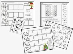 ~FREE~ Christmas Number Words