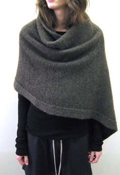 sweater, winter poncho, cloth, boston, capes, knitted shawls, black, rick owens, cashmere