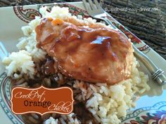 This crock pot orange chicken is so easy, but more importantly everyone loves it!
