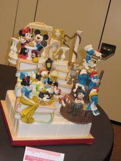. cake idea, cake design, disney land, children cake, myszka miki