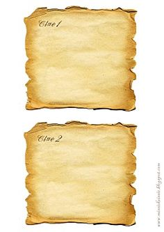 Printable treasure box & treasure map clues for a treasure hunt