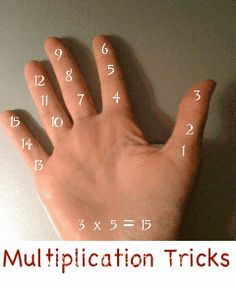 multiplication hand tricks