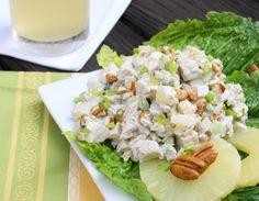 Pineapple-Pecan Chicken Salad  www.thekitchenismyplayground.com  #chicken #salad