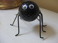 holiday, balls, golf ball, spiders, halloween kid crafts, halloween crafts, halloween kids, spider craft, accessories