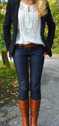stylish outfit with blazer