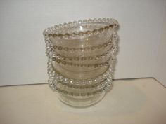 Imperial Glass CANDLEWICK SAUCE BOWLS  7 by PastPossessionsOnly, $7.95
