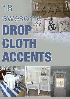 18 awesome drop cloth accents
