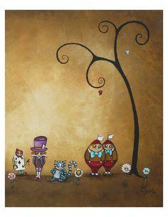 Whimsical Art Fairytale Print Set  Alice