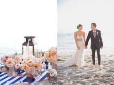 beaches, event, colors, navy coral beach wedding, beach weddings, beach inspired, blush, blues, flower