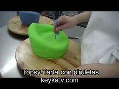 Cómo hacer una tarta Topsy 1 - YouTube