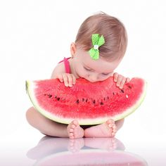 Babies and watermelon! Love this picture!