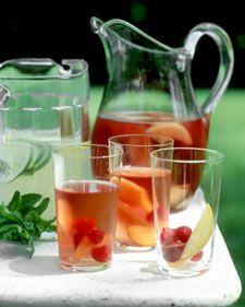 wines, punch bowls, wine punch, fun recip, roses, rose wine, bottles, pink lemonade, nectarin