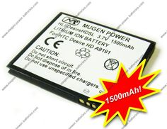 [HLI-DesireHDSL] Buy Mugen Power 1500mAh Extended Battery for For HTC Desire HD / Softbank 001HT / HTC AT Inspire 4G $43.95  #android #htc #phones #batteries