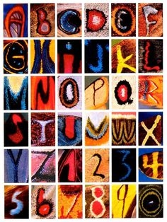 Kjell Sandved   Butterfly Alphabet One thing you can't do is naturally grow the letters of the alphabet on your body. Not unless you're a butterfly.This alphabet is made entirely from letters found on butterfly wings. via Fast Company More on his website