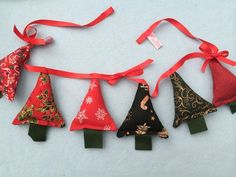 christmas tree garland , decoration,tree with ribbons  £7.99