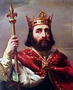 Charlemagne's father. Pepin the Short ( ? - 768) King of the Franks from 752 to 768. First king of the Carolingian dynasty. 9 known lines of descent.