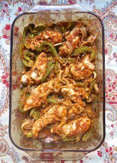 Oven Baked Chicken Fajitas with a homemade fajita seasoning recipe