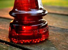 Antique, Hemingray amber insulator.