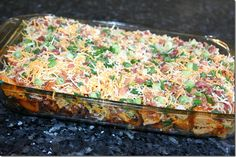 loaded baked potato chicken casserole...gotta try this!