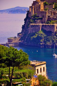 Castello Aragonese in Ischia, Gulf of Naples, Italy