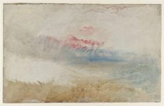 Red Sky over a Beach - William Turner
