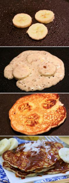 Roasted Banana Caramel Pancakes