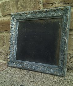This chalkboard was made to look old like the frame....by villabarnes