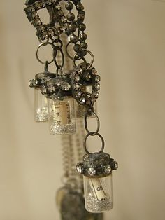 message in a bottle necklace...adore