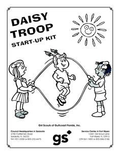 girlscouts Coloring Pages  Free and Printable