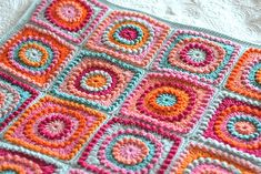Beautiful blanket using a very pretty square motif