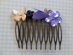 Secret Garden Hair Comb by wynbrit on Etsy, $22.00