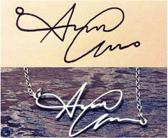 Personalized Hanwriting Signature Necklace by Topteeline89 on Etsy, $39.00