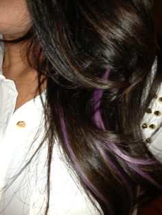 Lavender highlights. I love the small, subtle color... might have to add some of this in with the highlights next time!!