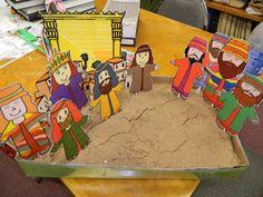 Hands On Bible Teacher: Hezekiah Trust GOD!! Sand Box Visuals---Hezekiah and Sennacherib.