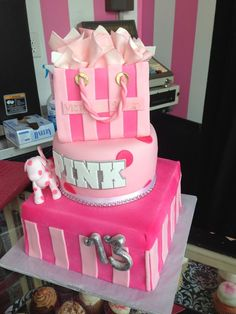 13th Birthday Cakes for Girls   Kids birthdays , Kerrigan',s 13th Birthday cake #pink - image #853029 ... i want