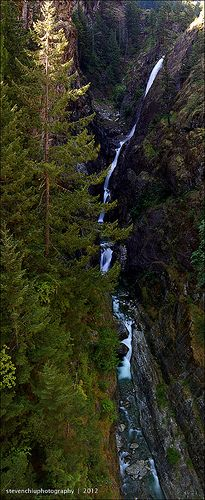 gorge creek falls, Washington State ...