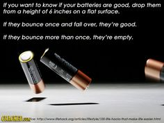 BATTERY - How to Know if a Battery is Still Good or Empty.