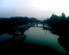 Beas River in Pathankot, Punjab, India