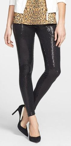 We are in love with these sequin leggings.