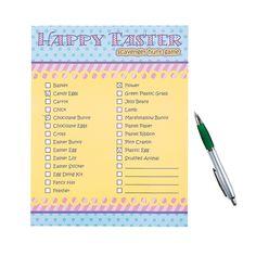 Easter Scavenger Hunt Game - OrientalTrading.com  @Emily Henson