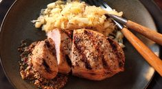 Cider-Brined Pork Chops with Apple Sauerkraut Recipe by Jamie Purviance